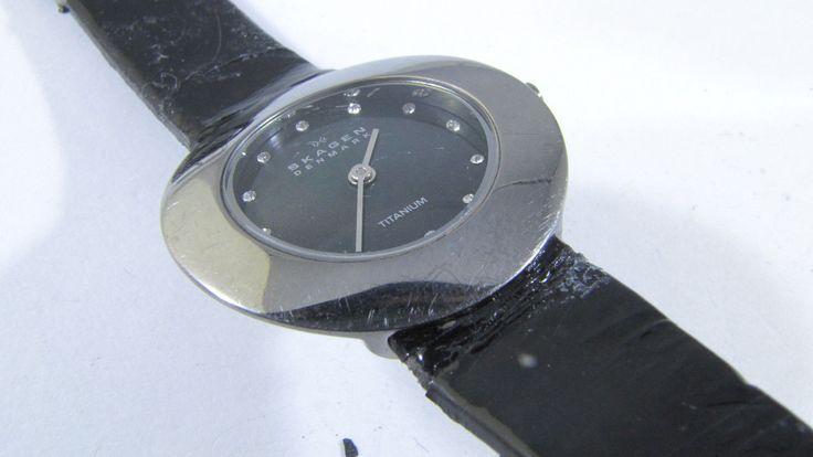 Skagen Titanium Black MOP Glitz Womens Watch 569STTLB