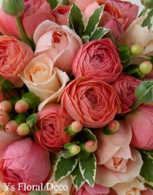 ラナンキュラス エムピーチのブーケ ys floral deco