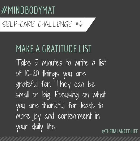 Monday's can be a drag. Change that by starting your day with a gratitude list. There is always, always something to be grateful for. #mindbodymat