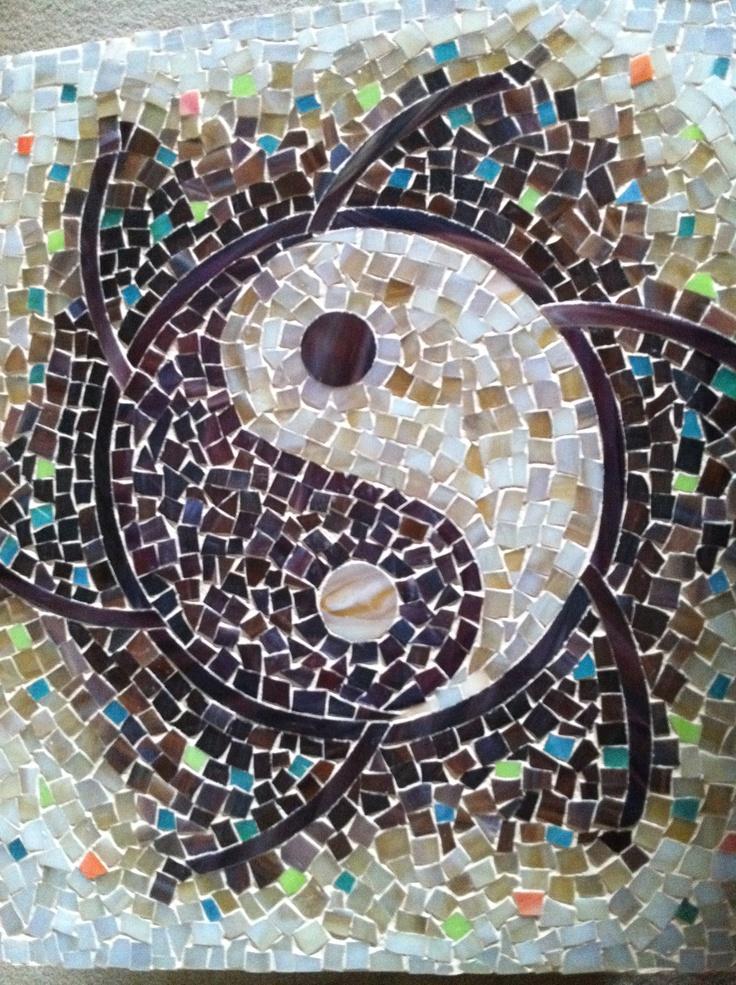 mosaic ying-yang | my creations | Yin yang, Mosaic, Mosaic ...