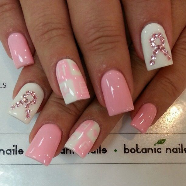 Pastel pink in honor of breast cancer awareness.