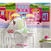 Room Mates  Surestrip Barbie Chair Rail Prepasted Mural: Prepast Murals, Chairs Railings, Kids Wall, Barbie Chairs, Wall Decal, Rooms Ideas, Little Girls Rooms, Railings Prepast, Kids Rooms