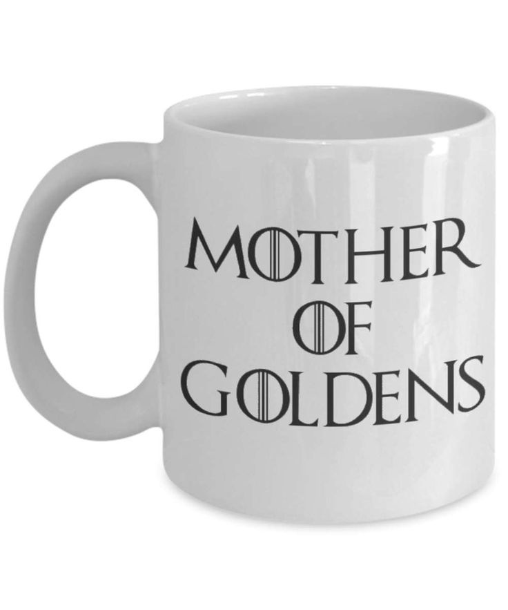 Golden Retriever Mug - Funny Golden Retrievers Coffee Mug - Mother Of Dragons - Mother Of Goldens - Golden Retriever Gifts by AmendableMugs on Etsy