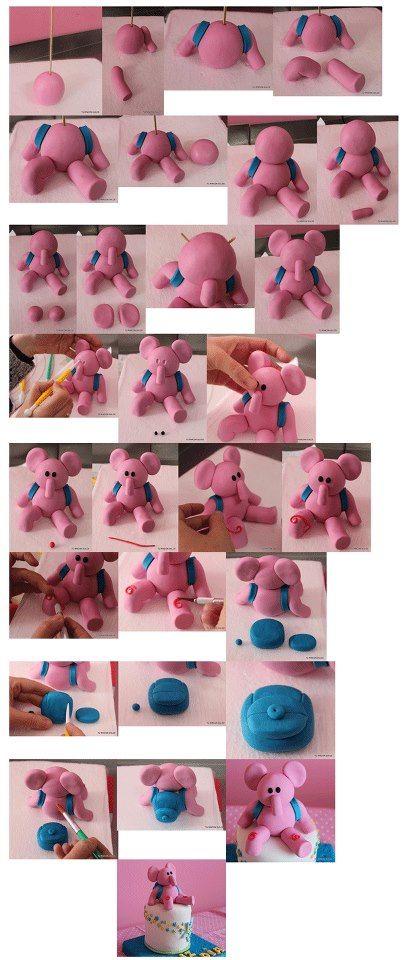elephant  step by step... Alapanagyokat és ételfestéket vásárolj a GlazurShopból! http://shop.glazur.hu