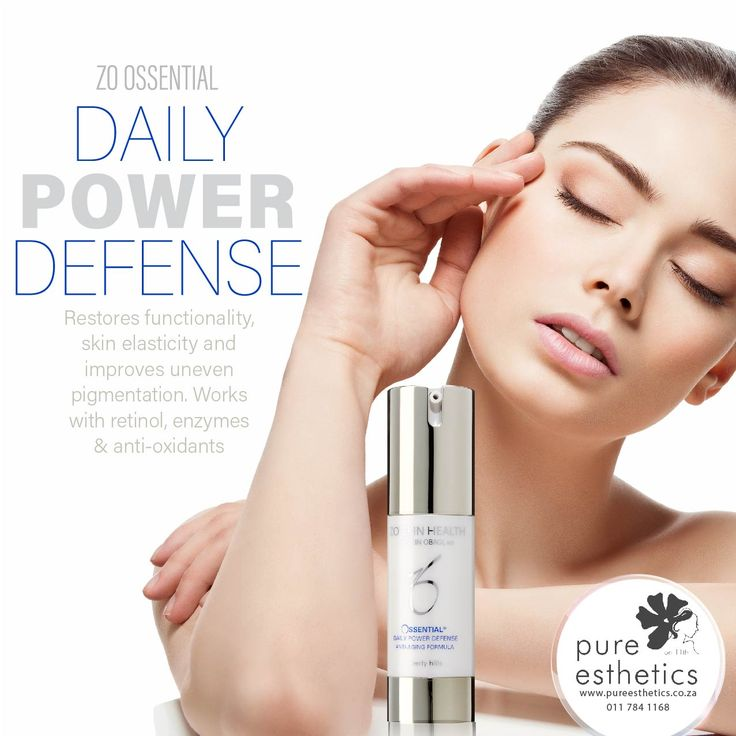ZO OSSENTIAL DAILY POWER DEFENSE Restores functionality, skin elasticity and improves uneven pigmentation. works with retinol, enzymes and anti-oxidants For more information or a booking please contact us at +2711 784 1168 #ZOOssentials #ZoSkinHealth