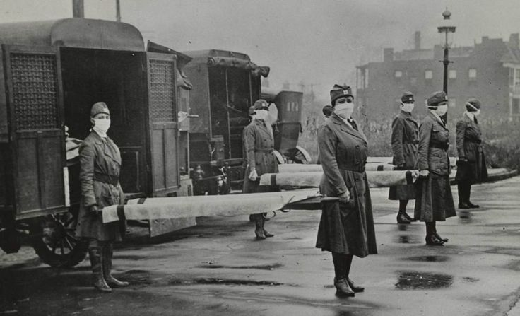 The 1918 Flu Pandemic: Scenes From a Cataclysm | LIFE.com - St. Louis Red Cross Motor Corps on duty during the influenza pandemic, 1918.