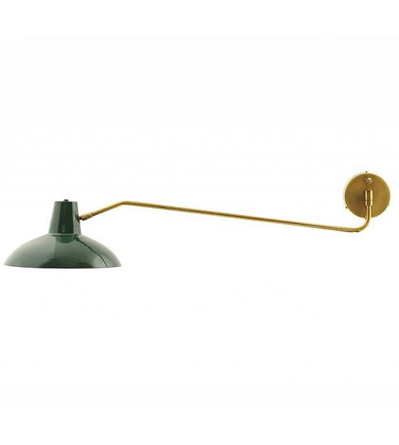 Housedoctor Wandlamp Desk metaal mat groen goud ø31x104cm - wonenmetlef.nl