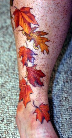 photo realism tattoo leaves - Google Search