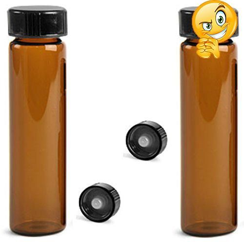 #checkitout These glass amber vials are here offered in size of 8 #dram. Each glass vial comes with a black cone lined closure, and makes a great container for m...