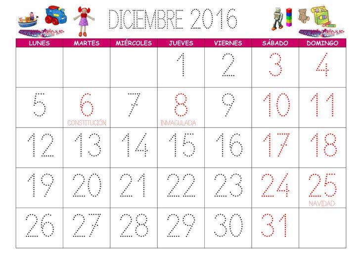 Diciembre 2016 Calendario