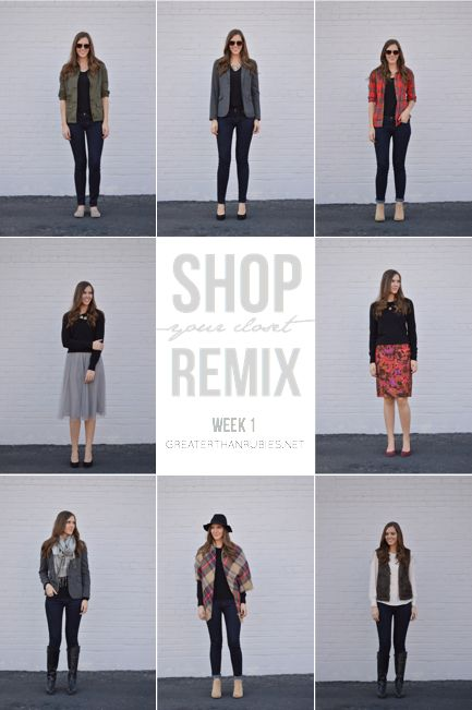 Shop Your Closet Remix Week 1 http://beautymommy.com/2015/03/shop-your-closet-find-47-new-outfits.html