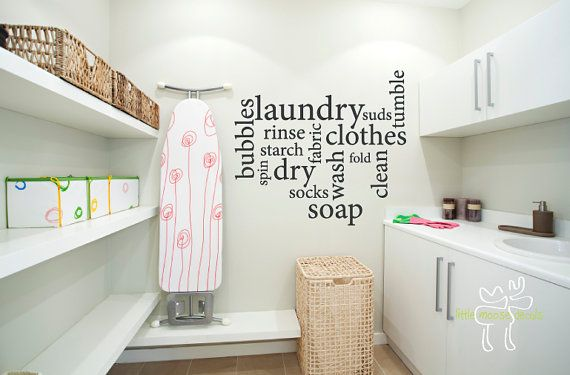 Laundry Room Subway Art Vinyl Wall Decal by LittleMooseDecals, $35.00