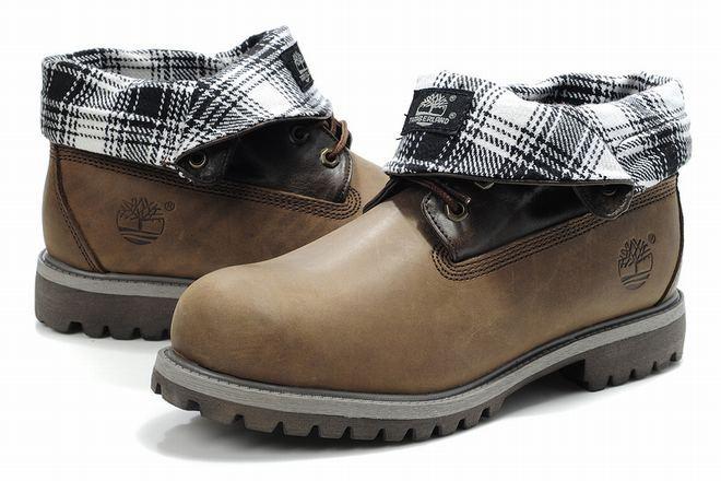cheap dark khaki timberland boots roll top