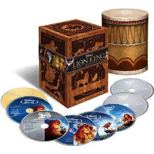 The Lion King Trilogy Collection - 8-Disc Set (Includes The Lion King: Diamond Edition 3D BD+2D BD+ DVD+ Digital Copy,The Lion King 1 1/2: 2D BD + DVD, and The Lion King 2:  2D BD + DVD) [Blu-ray] $86.25