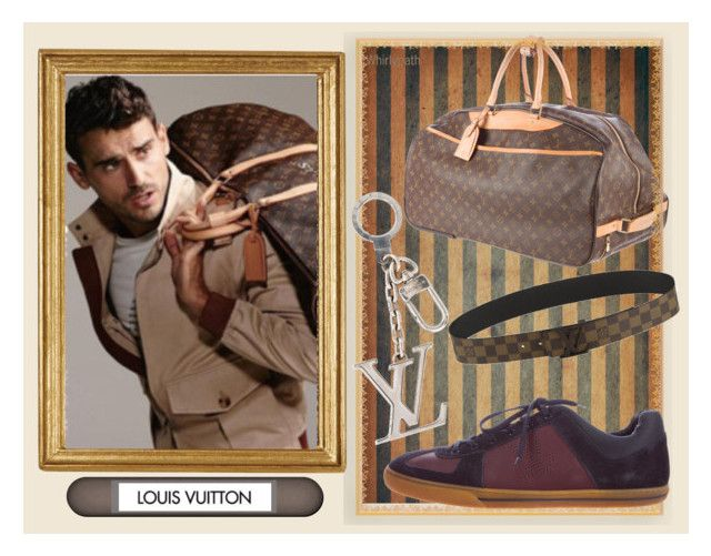 Louis Vuitton Man! by whirlypath on Polyvore featuring Louis Vuitton, Cavallini & Co., men's fashion and menswear