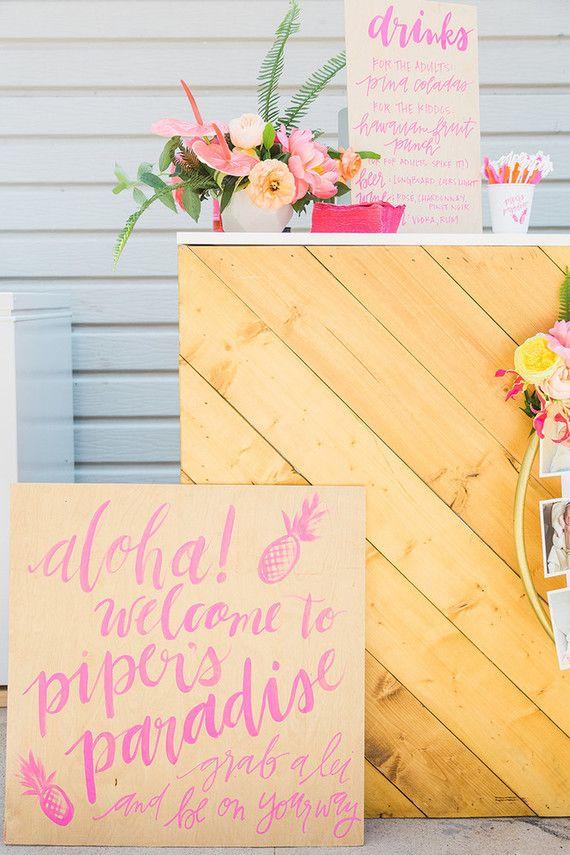 Leuk idee voor een kinderfeestje voor een meisje - tropical thema!