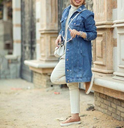 Oversized Jacket Hijab Style Collection Just Trendy Girls Hijabi