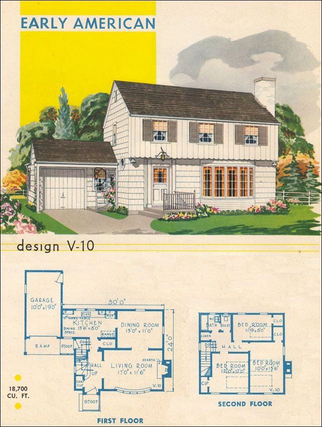 Garrison Colonial House Plans New Colonial Style Dining Room Post Wwii Garrison Colonial Colonial House Plans House Plans Vintage House Plans