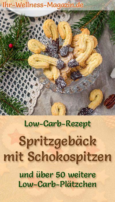 Weihnachtskekse Mit Marmeladenfüllung.Low Carb Spritzgebäck Mit Schokospitzen Einfaches Plätzchen Rezept