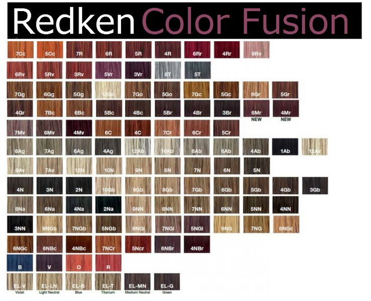 Redken Hair Color Chart Carol G Permanent Swatches
