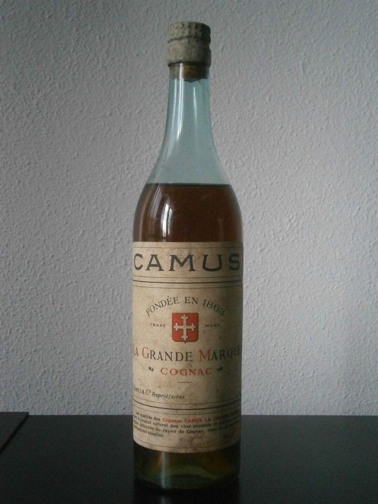 Camus Cognac La Grande Marque Old Vintage garrafa Bottle Champagne