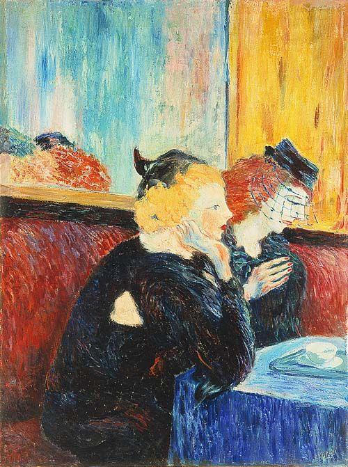 """Aligi Sassu """"Donne al caffè"""", 1942 #MuseoNovecento #Arte #Art #modernart"""