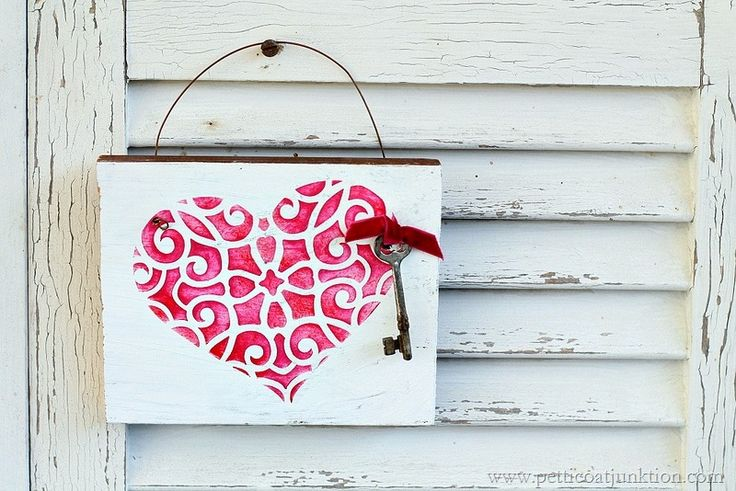 How to stencil a heart. Give any stencil project charm, character, and depth with just a few simple steps. On the blog. @royalstencils #stencil