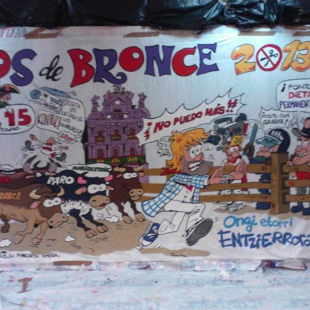 """Instagram photo by @rockflores via ink361.com Finished!!!! """"Pancarta"""" Peña Los de Bronce."""