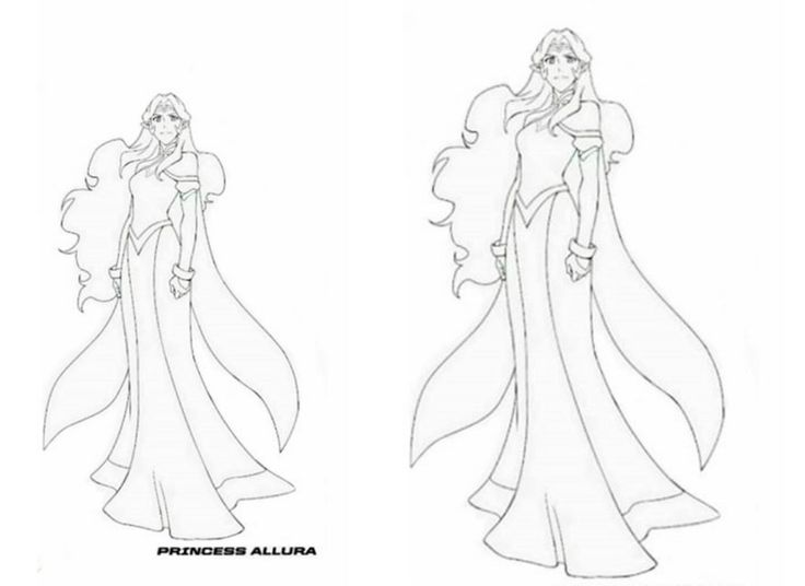 Voltron Legendary Defender In Coloring Pages: Princess Allura Voltron Legendary Defender Coloring Page