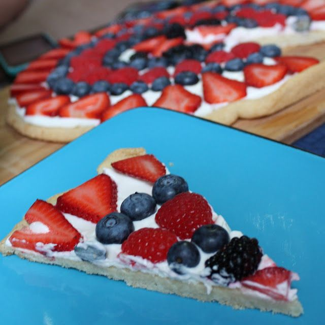 4th of july fruit cookie