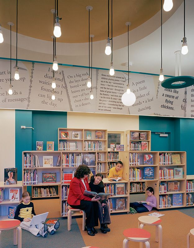 101 best childrens library design images on pinterest for Library painting ideas