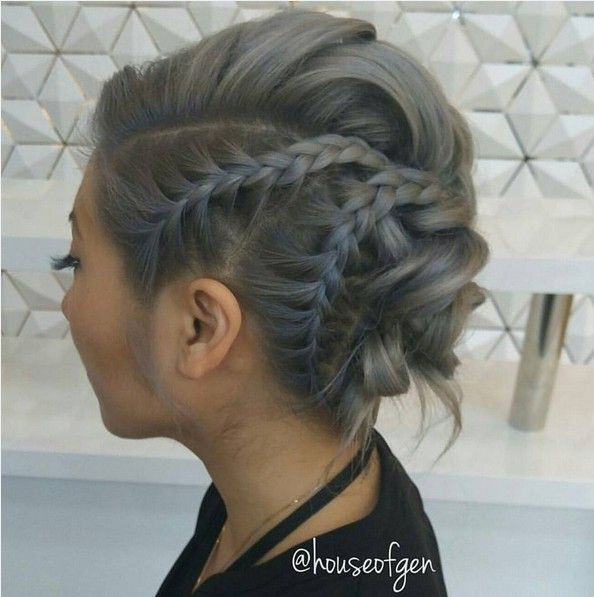Best 25+ Edgy updo ideas on Pinterest | Side braided hair ...
