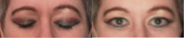 CiShore's eye makeup; pic from crappy phone camera. Used: Colorscents 252 pallet mixed w/ 100% shea butter; Rimmel eyeliners; L'Oreal mascara (red & white tub, black); eyebrow liner (brown) & brush; various brushes. Lasted all evening and didn't look too bad the next morning!