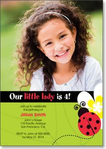 Little Ladybug - Photo Birthday Card from Kindred Greetings. Customize with your own photo and event details.