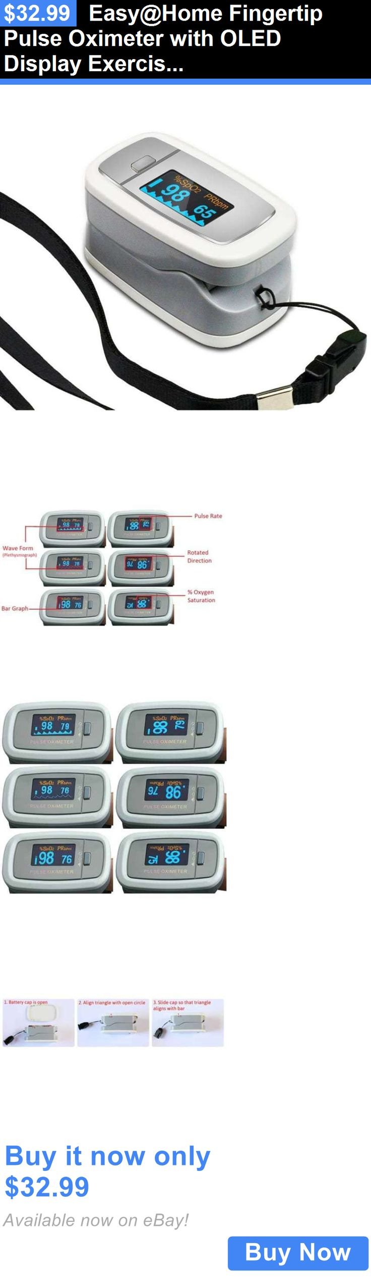 Oximeters: Easy@Home Fingertip Pulse Oximeter With Oled Display Exercise Fitness Monitor BUY IT NOW ONLY: $32.99
