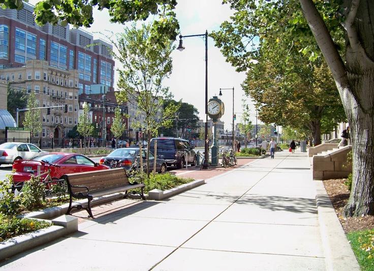 Commonwealth Avenue Streetscape Boston Ma Streetscapes