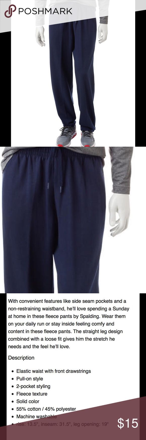 SPALDING Men's Fleece Pants Navy Blue NWT Size XL Brand new with tag. Please refer to pictures for details and description. Spalding Pants Sweatpants & Joggers