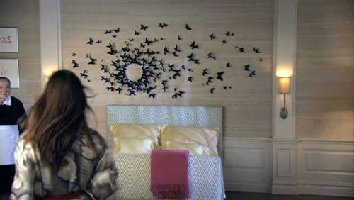 Black Butterfly Wall Decor Gossip Girl : Serena s room in blair house the butterflies on