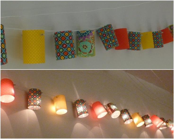 huisje creatief: zelf lampjesslinger maken