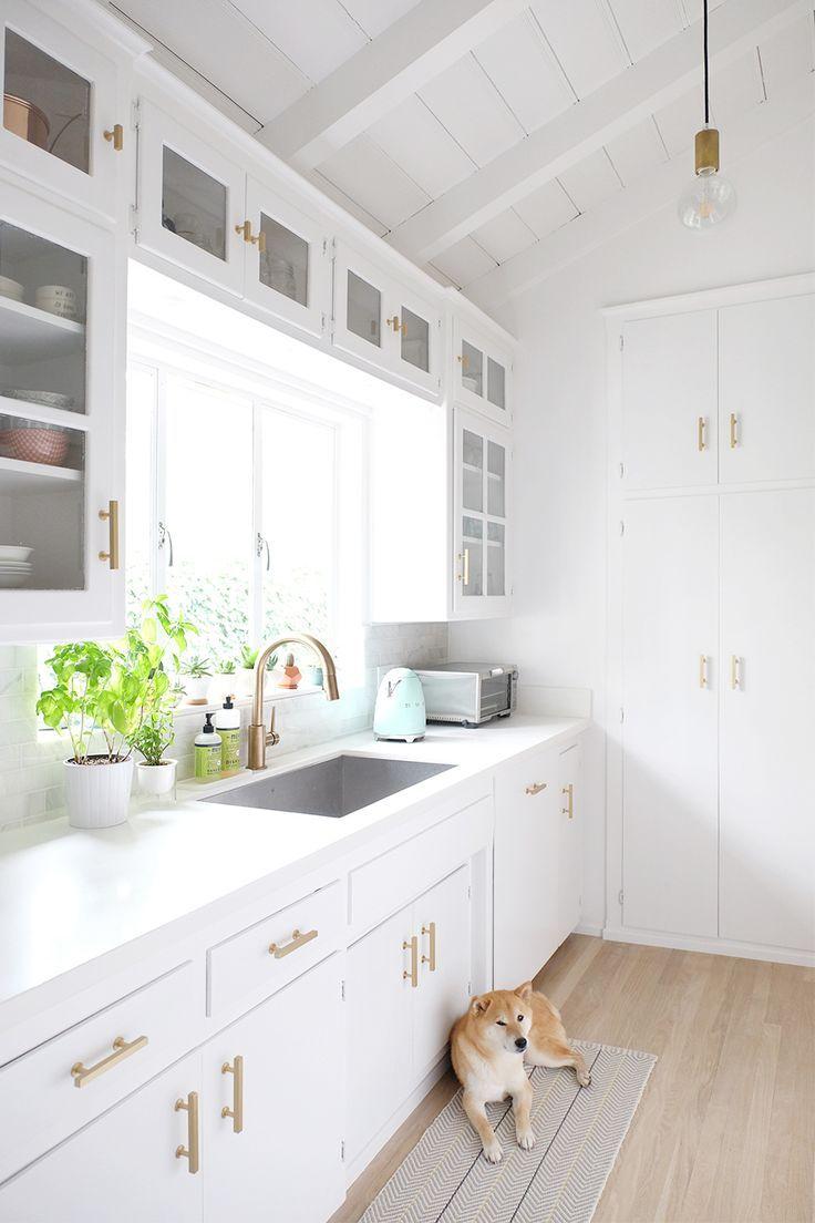 Retro all-white kitchen with modern touches