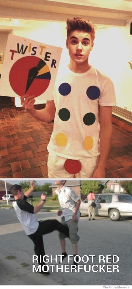 This is how you play Twister, Beiber Edition!