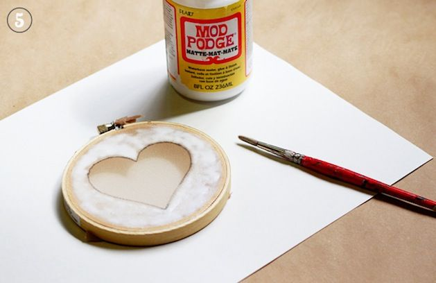 Mod Podge screen printing-we used to do this in art school...