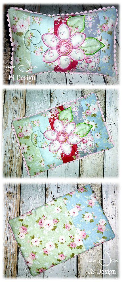 Der Stickbär   Designbeispiel: Flower-Patchwork-Pillow