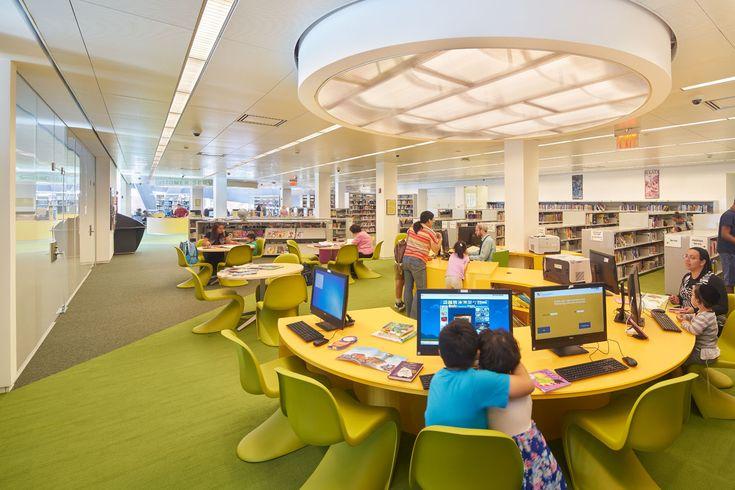 Kew Gardens Hills Library,© Bruce Damonte