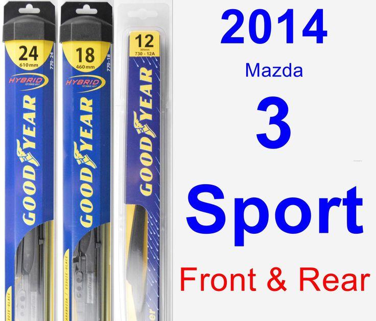 Front & Rear Wiper Blade Pack for 2014 Mazda 3 Sport - Hybrid