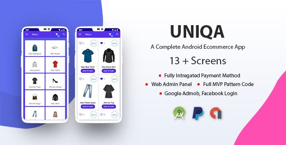 Uniqa An Android Ecommerce App With Admin Panel Ecommerce App