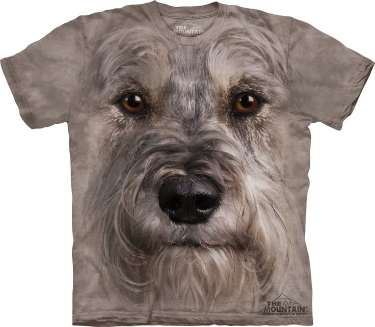 big face miniature schnauzer t-shirt - Click image to see hundreds of different animal t-shirts #themountaintees