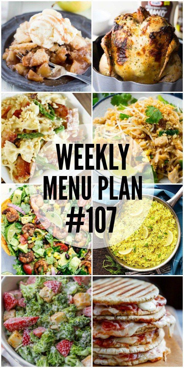 Weekly Menu Plan #107 - Cafe Delites