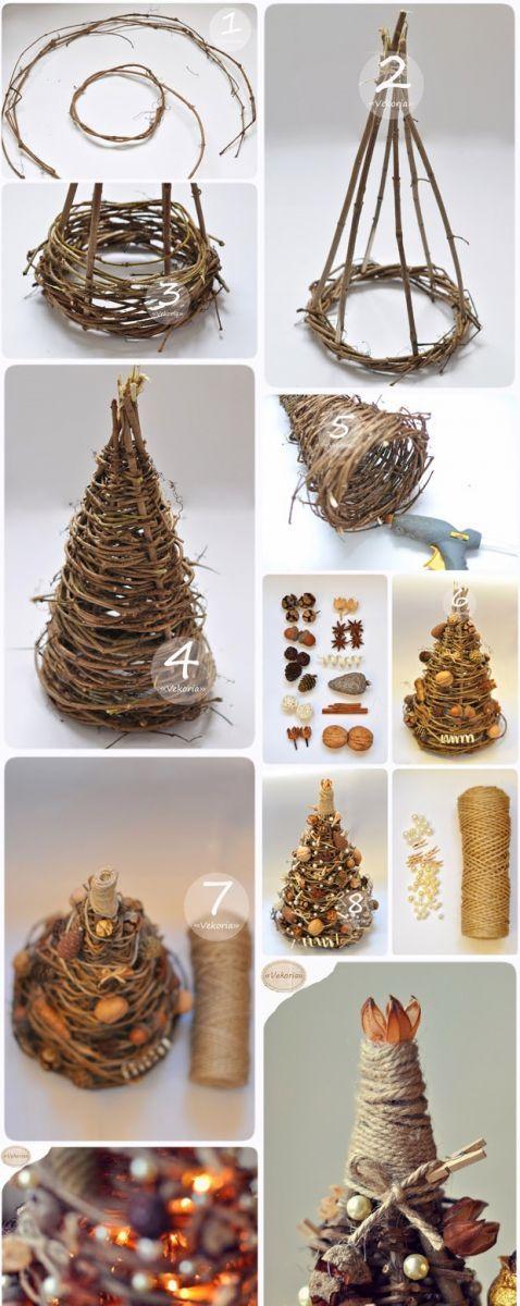 Megmutatjuk, hogyan készíts egyszerű de csodaszép fonott karácsonyfa asztaldíszt!