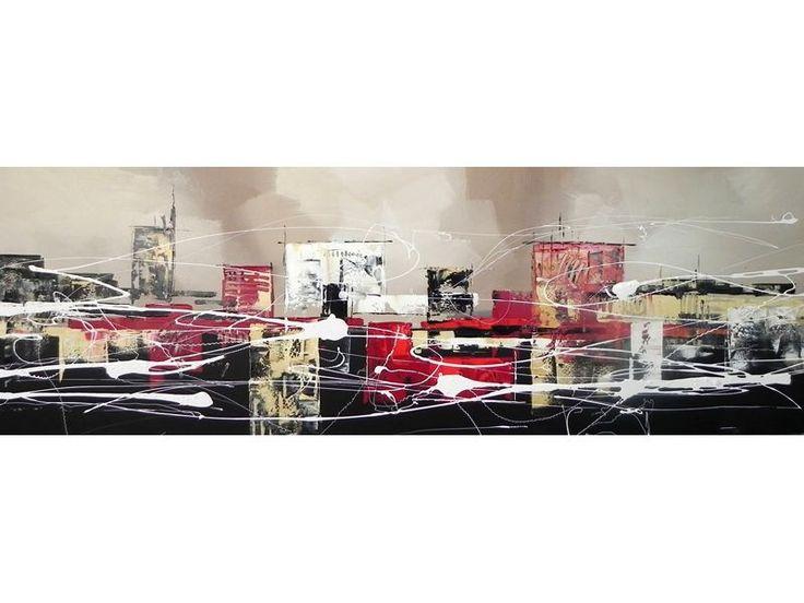 66 best un jour une peinture sur toile images on pinterest for Objets decoration rouge et gris